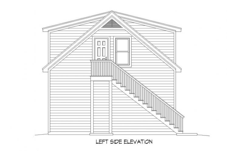 Traditional Garage Plan -  82585 - Left Exterior