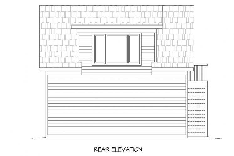Country Garage Plan -  82585 - Rear Exterior