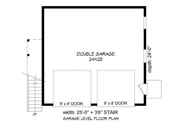 Country Garage Plan -  82585 - 1st Floor Plan