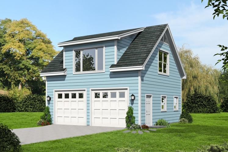 Traditional Garage Plan -  82585 - Front Exterior