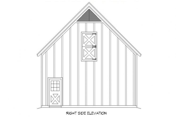 Country  - Barn 82644 - Right Exterior