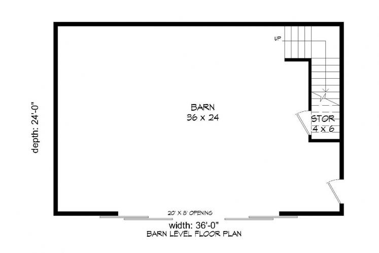 Farmhouse  - Barn 82644 - 1st Floor Plan