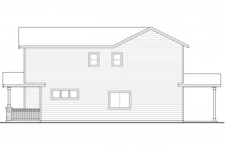 Country Multi-family Plan - Kennewick 82645 - Right Exterior