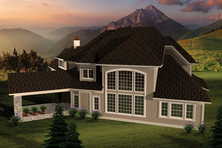 Southern House Plan -  82718 - Rear Exterior