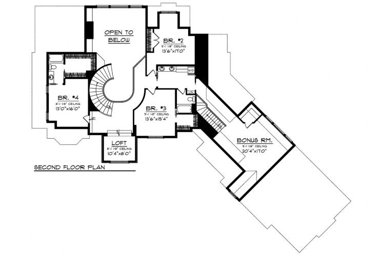 Southern House Plan -  82718 - 2nd Floor Plan