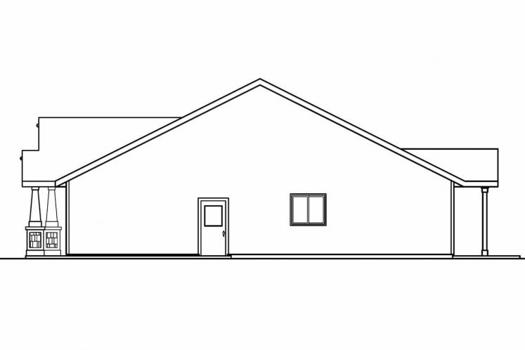 Craftsman House Plan - Caraville 82783 - Right Exterior