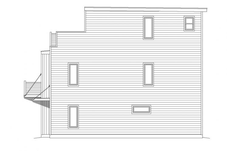 Modern House Plan - Cannon 82788 - Right Exterior
