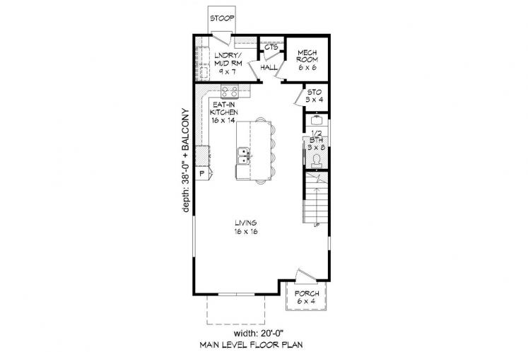 Contemporary House Plan - Cannon 82788 - 1st Floor Plan