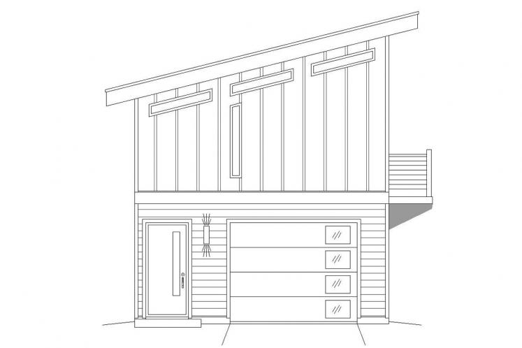 Traditional Garage Plan -  82795 - Left Exterior