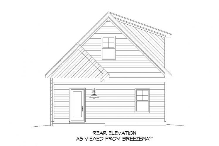 Traditional House Plan -  82852 - Rear Exterior