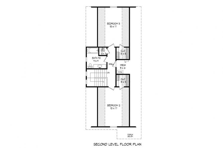 Cottage House Plan -  82852 - 2nd Floor Plan