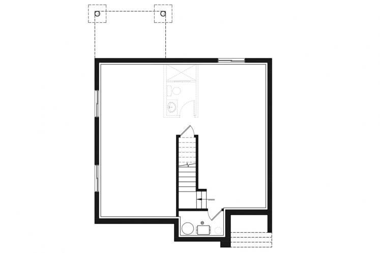 Modern House Plan - Lavoisier 82859 - Basement Floor Plan