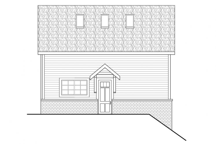Traditional Garage Plan -  82865 - Right Exterior