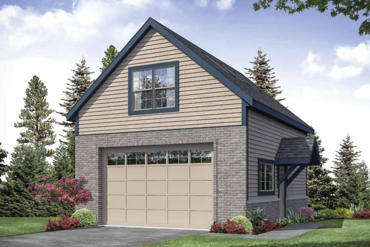 Classic Garage Plan -  82865 - Front Exterior