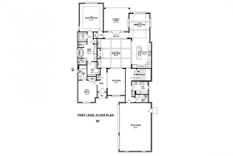 Classic House Plan -  82890 - 1st Floor Plan