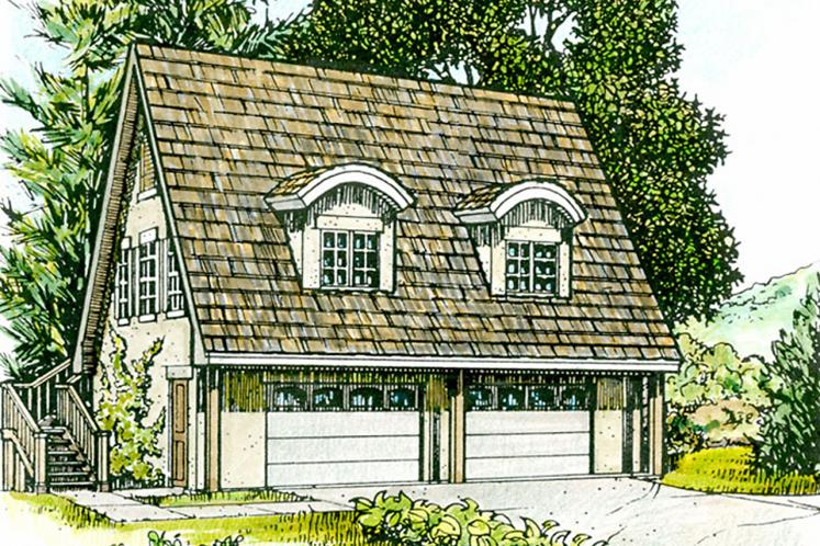 Country Garage Plan - Wimberley 82927 - Front Exterior