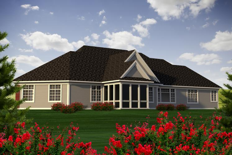 Classic House Plan -  83029 - Rear Exterior
