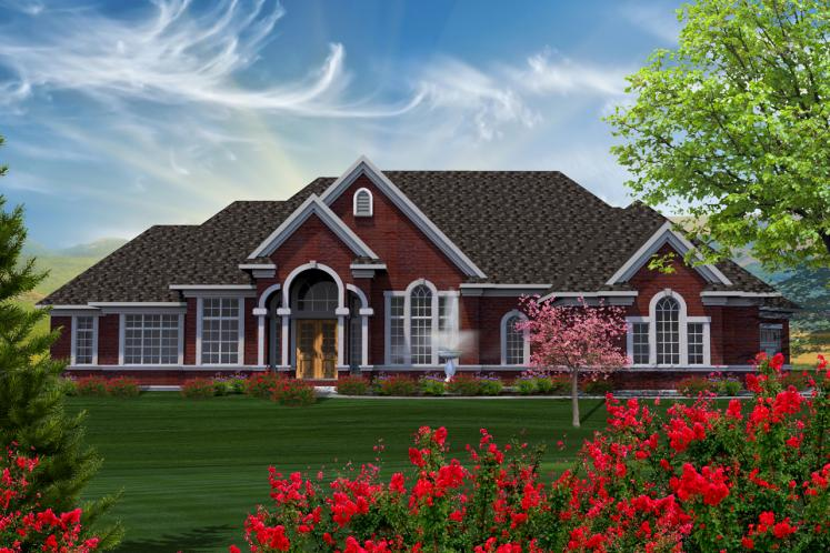 European House Plan -  83029 - Front Exterior