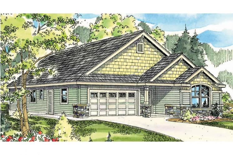 Craftsman House Plan - Russellville 83183 - Front Exterior