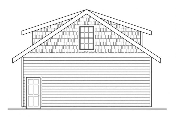 Country Garage Plan -  83204 - Right Exterior