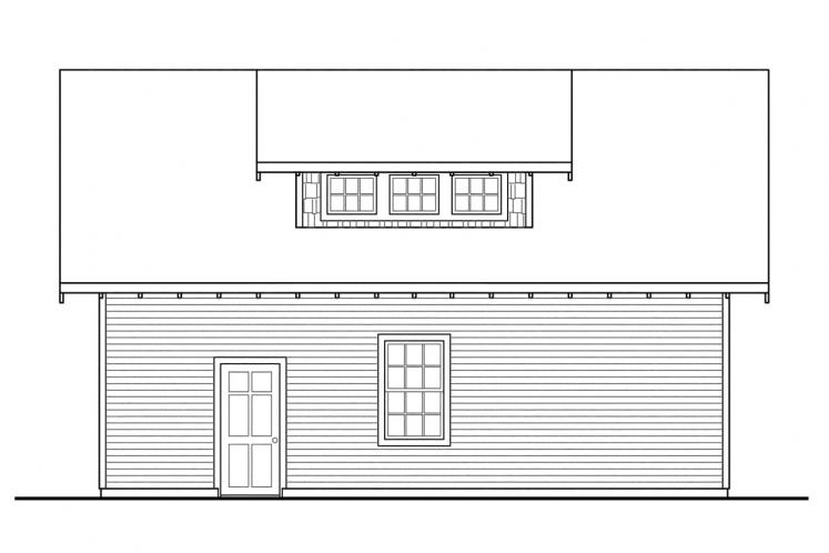 Country Garage Plan -  83204 - Rear Exterior