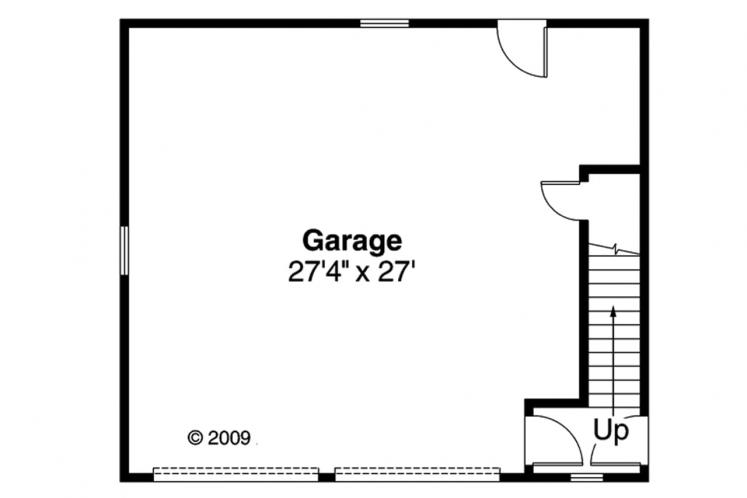 Craftsman Garage Plan -  83204 - 1st Floor Plan