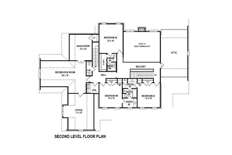 Southern House Plan -  83236 - 2nd Floor Plan
