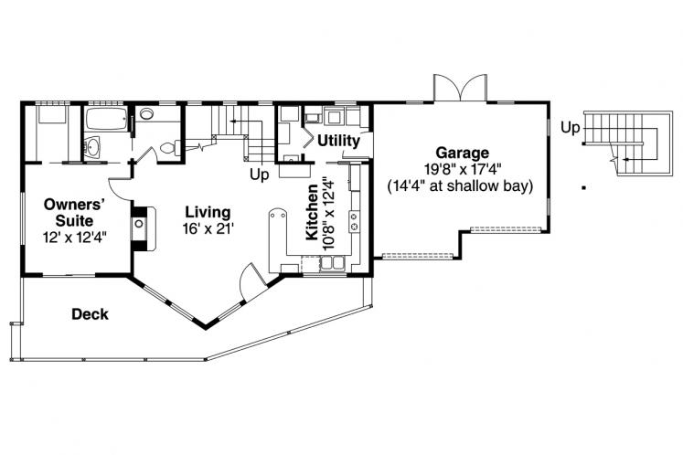 Cottage House Plan - Boulder Creek 83270 - 1st Floor Plan