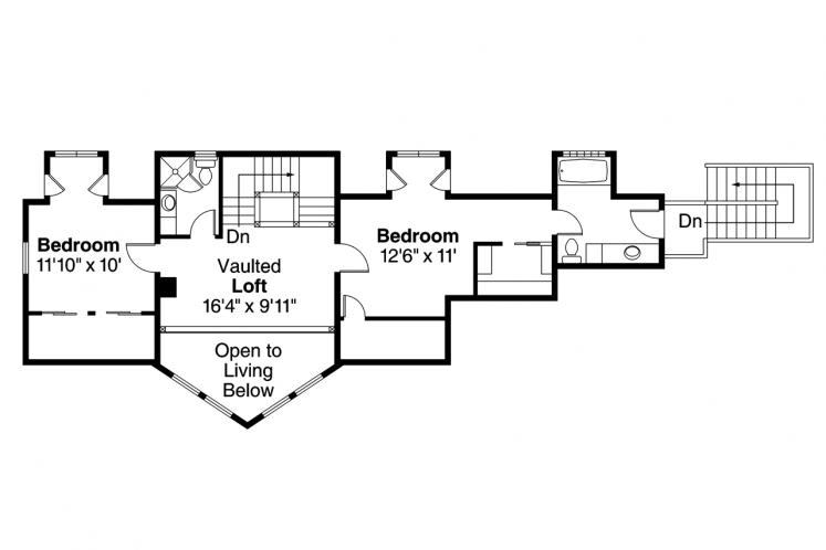 Lodge Style House Plan - Boulder Creek 83270 - 2nd Floor Plan