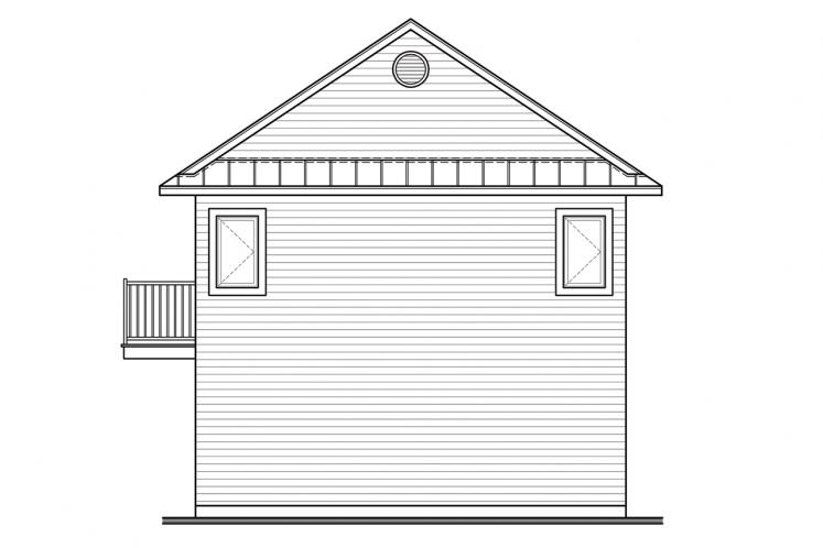 Cottage House Plan - The Murphy 83296 - Rear Exterior