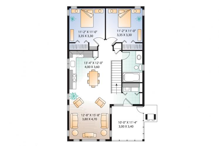 Traditional House Plan - The Murphy 83296 - 2nd Floor Plan