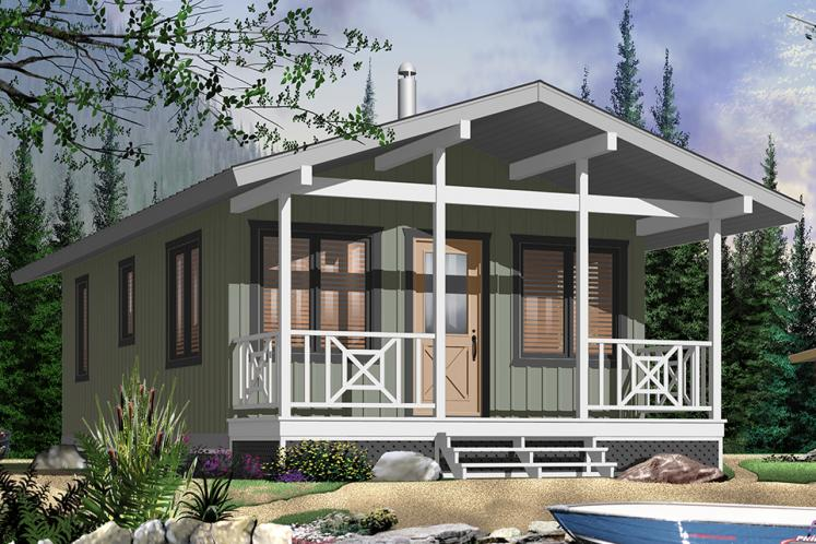 Cottage House Plan - Kingfisher 83357 - Front Exterior