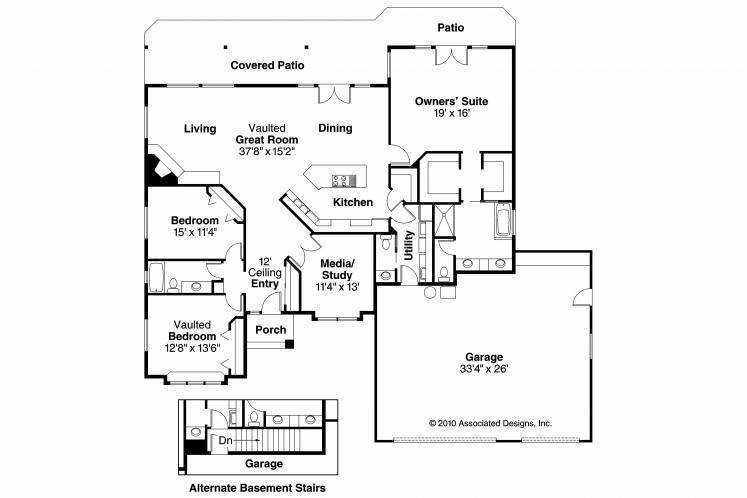 Ranch House Plan - Palermo 83372 - 1st Floor Plan