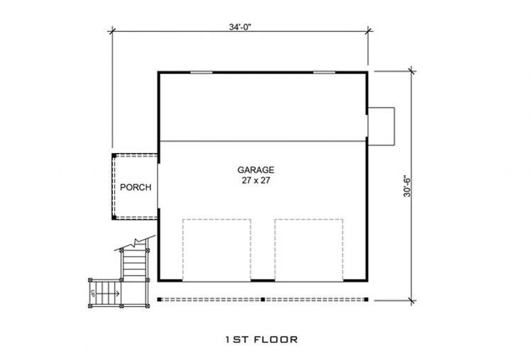Country Garage Plan - Windcrest 83377 - 1st Floor Plan