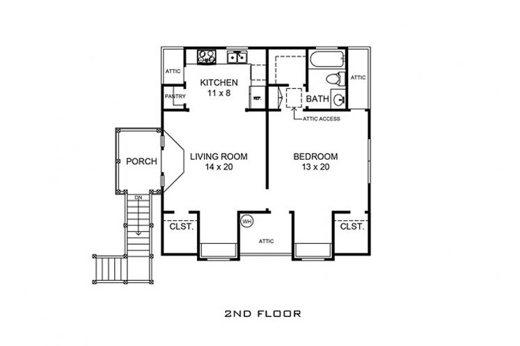 Farmhouse Garage Plan - Windcrest 83377 - 2nd Floor Plan