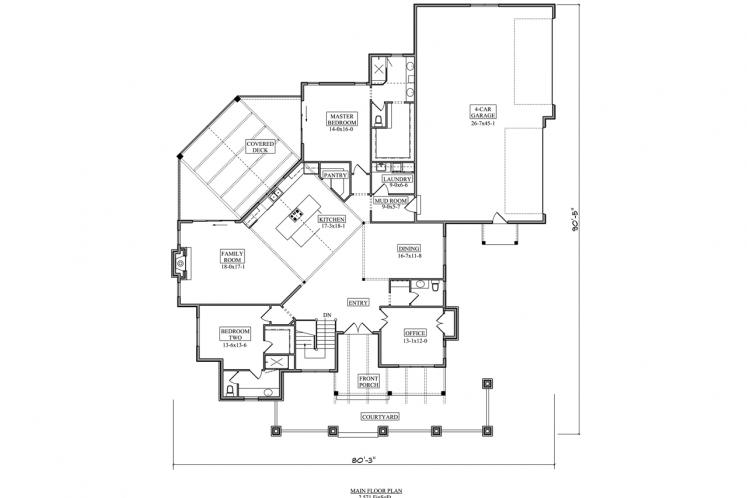 European House Plan - Coure d'Alene 83566 - 1st Floor Plan