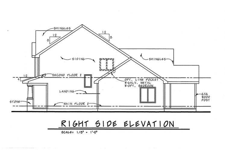 Traditional House Plan - Hepburn 83619 - Right Exterior
