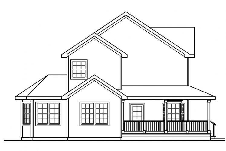 Traditional House Plan - Gifford 83627 - Left Exterior