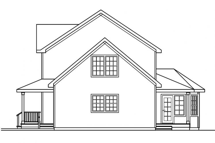 Country House Plan - Gifford 83627 - Right Exterior