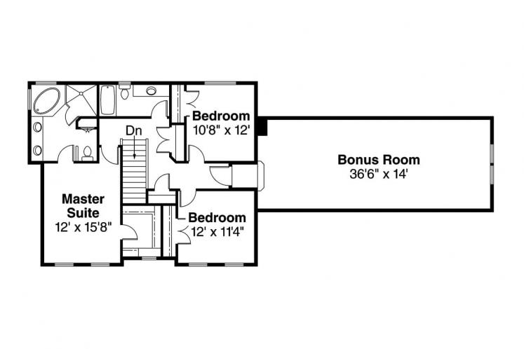 Traditional House Plan - Gifford 83627 - 2nd Floor Plan