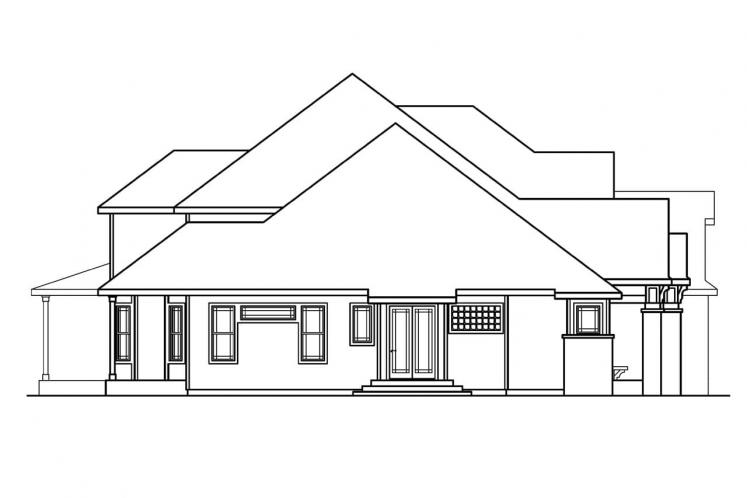 Traditional House Plan - Hastings 83726 - Left Exterior