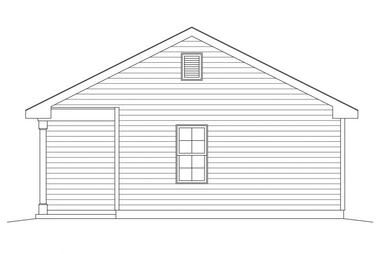 Country Garage Plan -  83791 - Right Exterior