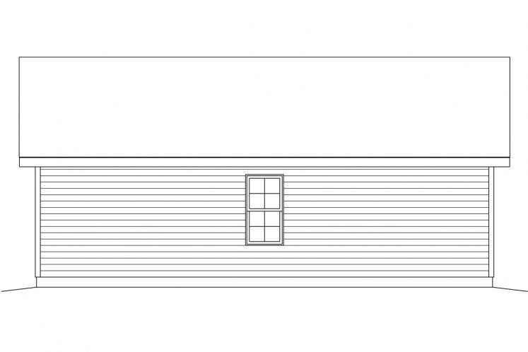 Country Garage Plan -  83791 - Rear Exterior