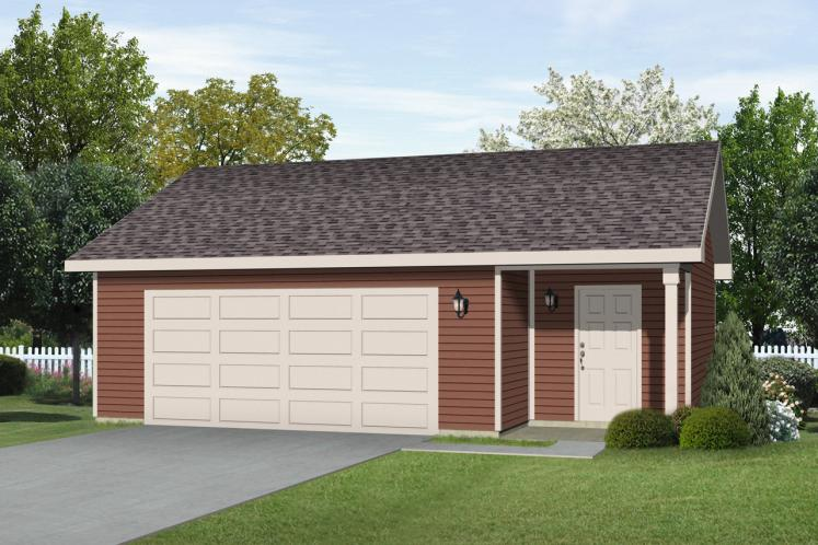 Traditional Garage Plan -  83791 - Front Exterior