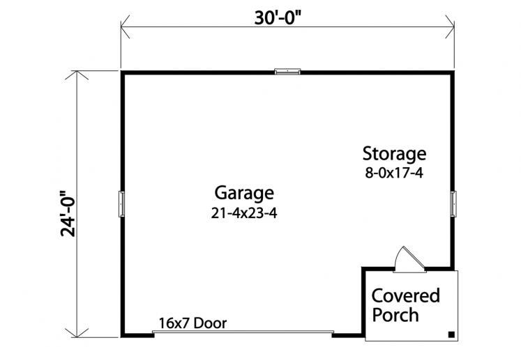 Traditional Garage Plan -  83791 - 1st Floor Plan