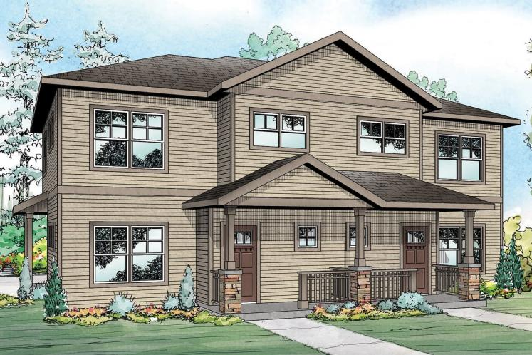 Country Multi-family Plan - Hendrick 83904 - Front Exterior