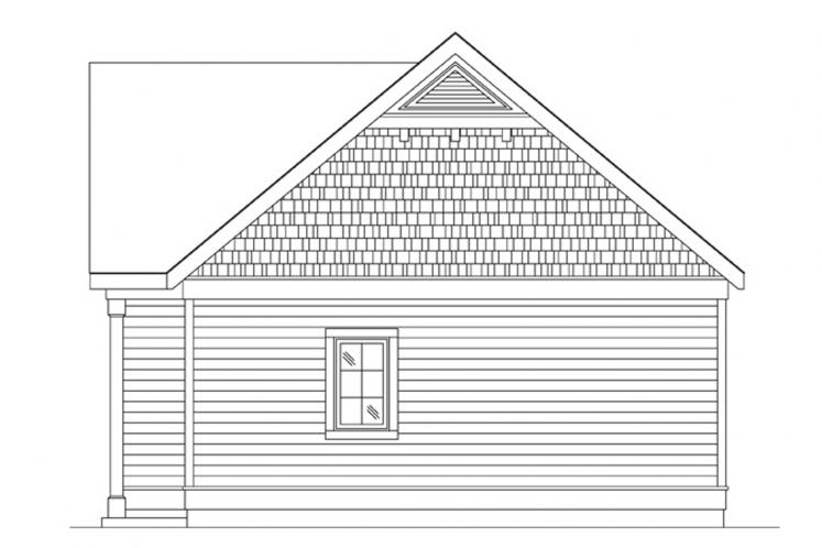 Bungalow House Plan -  83936 - Right Exterior