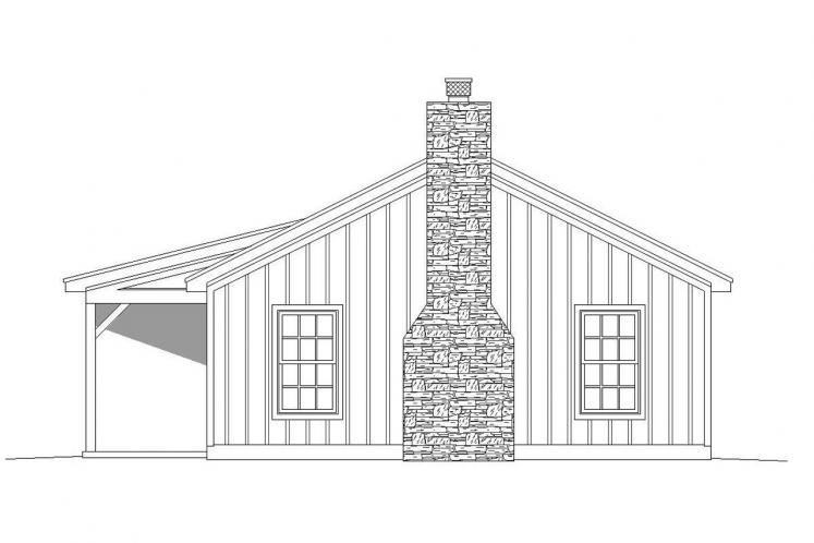 Country House Plan -  84075 - Right Exterior