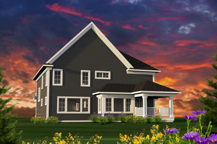 Farmhouse House Plan -  84194 - Rear Exterior