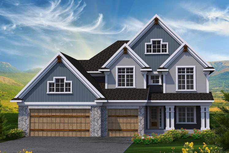 Country House Plan -  84194 - Front Exterior
